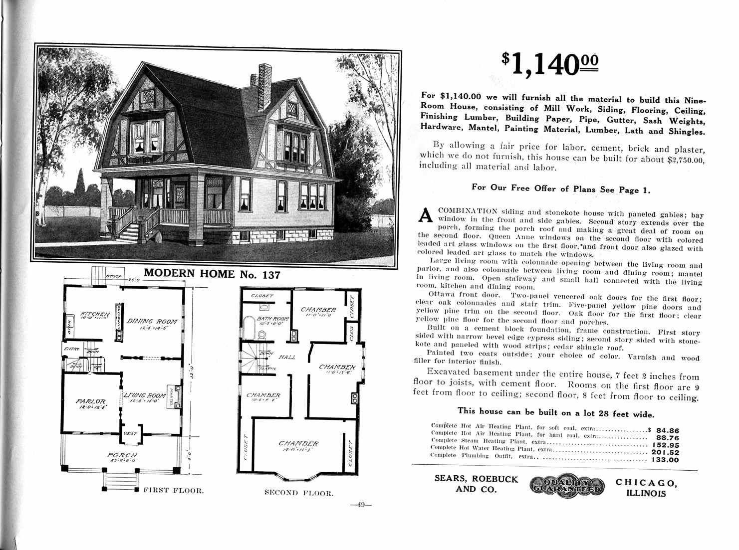Sears Homes 1908-1914