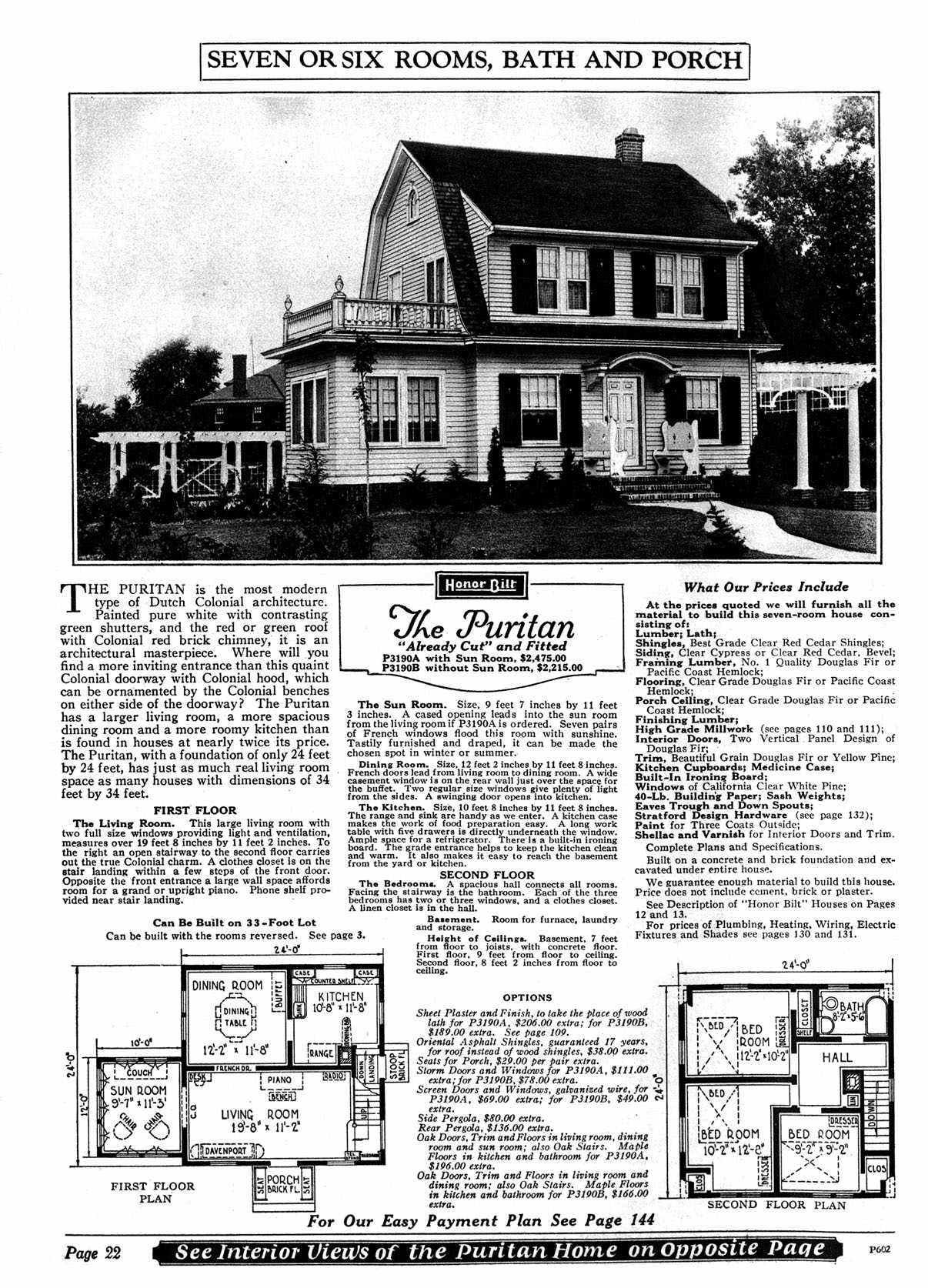 Sears dutch colonial house plans for Dutch colonial floor plans